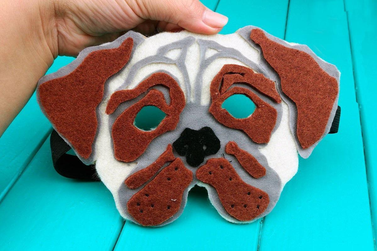 Как сделать карнавальную маску в виде собаки на Новый Год