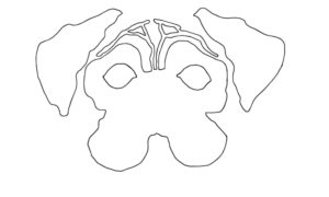 маска в виде собаки