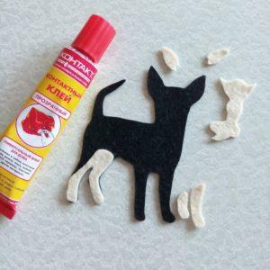 Магнит в виде собаки