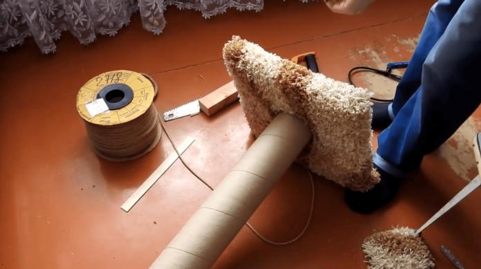 Изготовление когтеточки для кошки своими руками