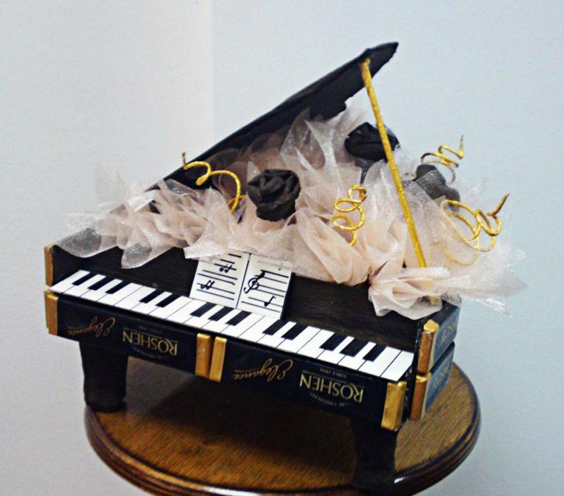 Как сделать рояль из конфет: мастер-класс