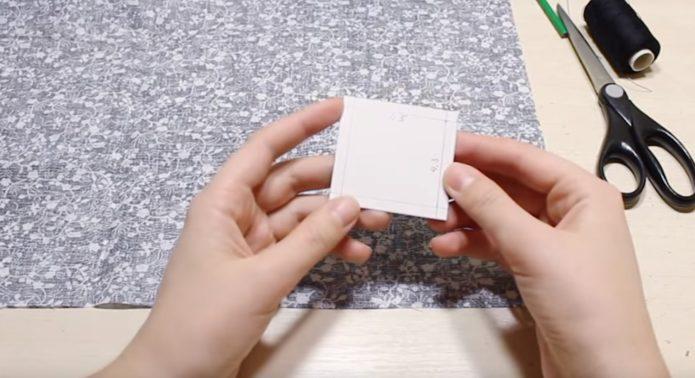 Выкройка квадрата с припусками