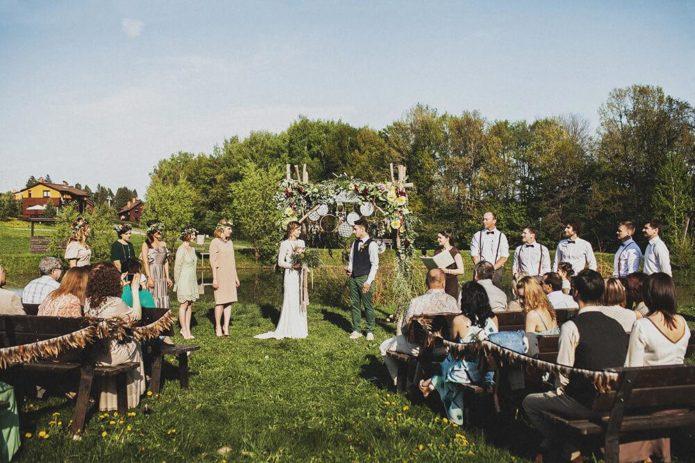 Свадебное торжество в стиле бохо