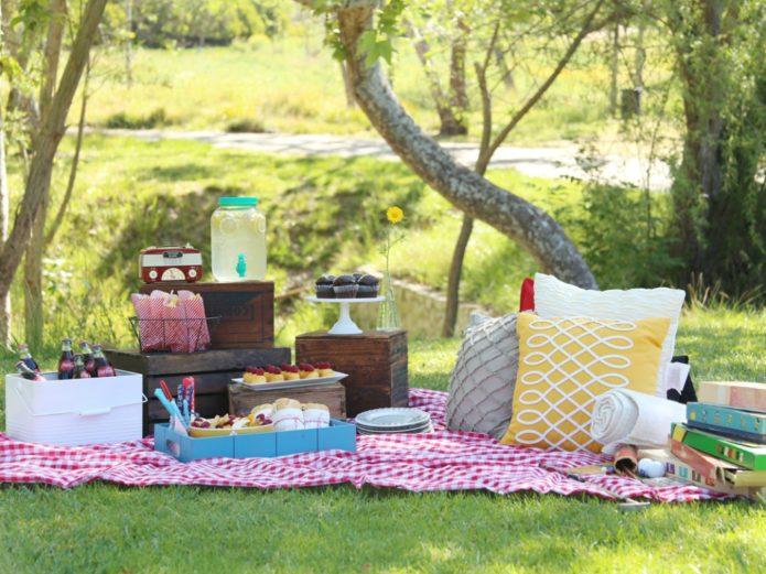 Свадебный пикник в стиле бохо
