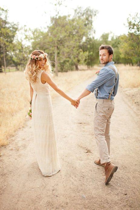 Наряды жениха и невесты в стиле бохо