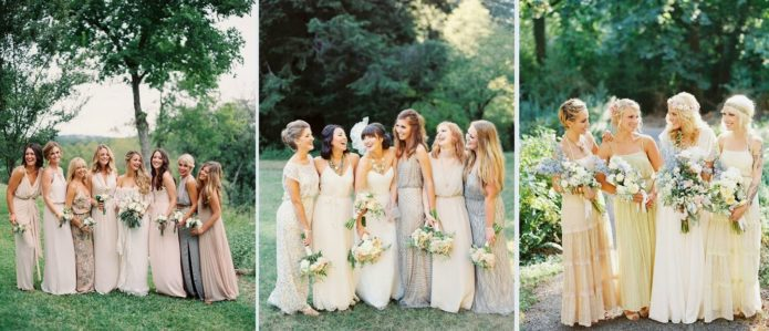 Невеста с подружка на свадьбе бохо