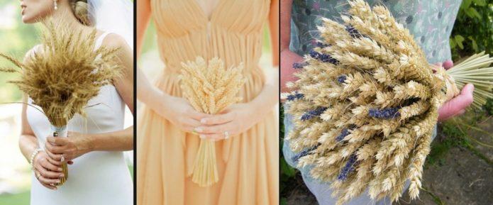 Букет из пшеничных колосьев в стиле бохо