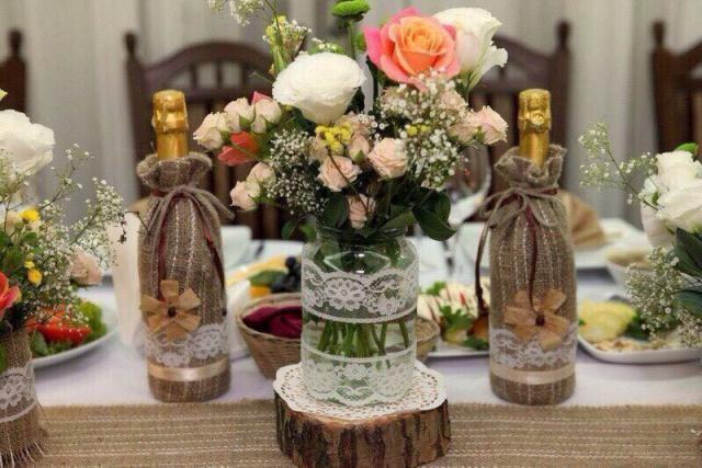 Букет для свадьбы в стиле Рустик