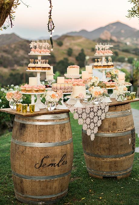 Свадебные десерты в стиле Рустик