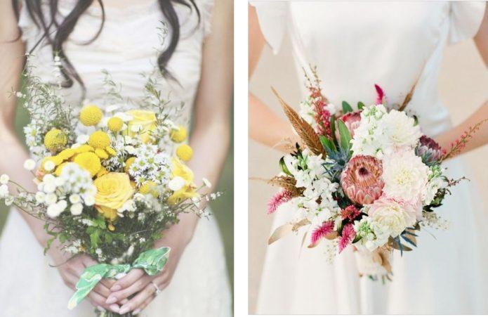 Варианты букетов невесты в стиле бохо