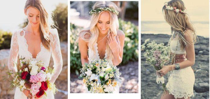 Идеи букетов невесты в стиле бохо