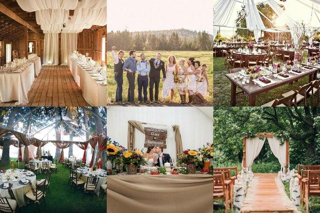 Свадебное торжество в стиле Рустик