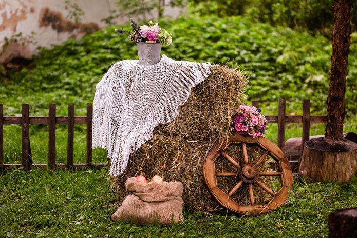 Декор для свадьбы в стиле Рустик