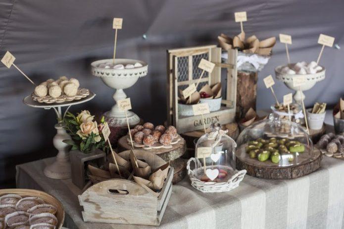 Угощения на свадьбе в стиле Рустик