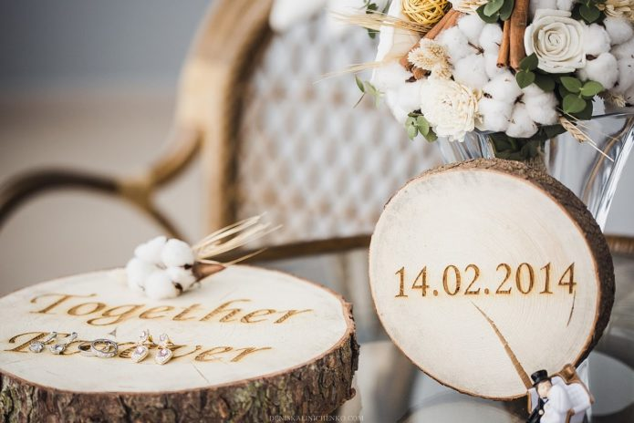 Свадебный декор в стиле Рустик