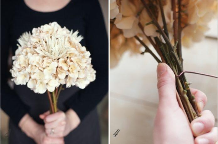 Сборка букета-дублера из искусственных цветов