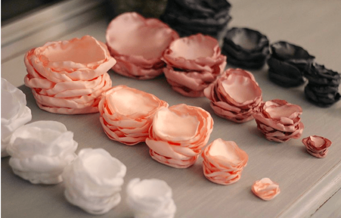 Шаблоны из ткани для цветов