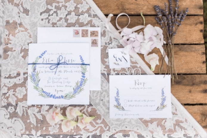 Приглашения на свадьбу в стиле Прованс
