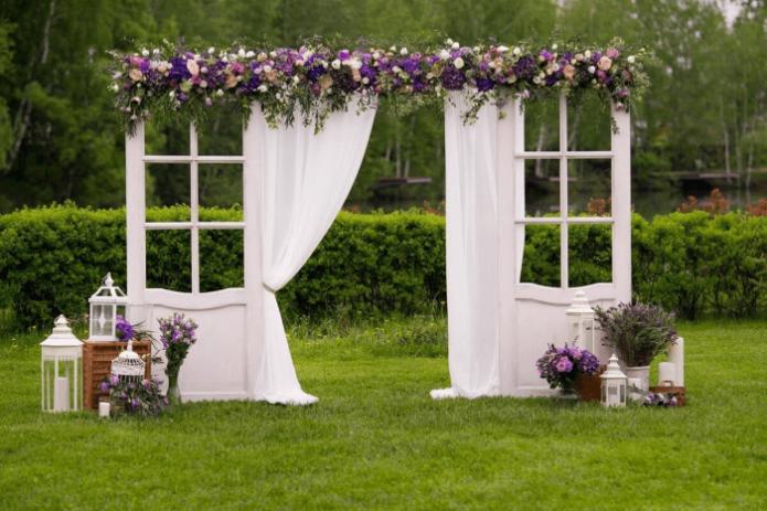 Арка в стиле Прованс для регистрации жениха и невесты