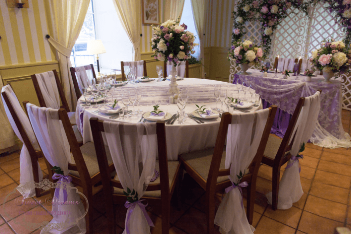 Свадебный банкетный зал в стиле Прованс