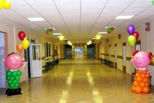 Украшение школы на 1 сентября