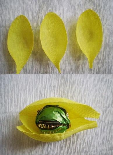 Формирование бутонов с конфетой