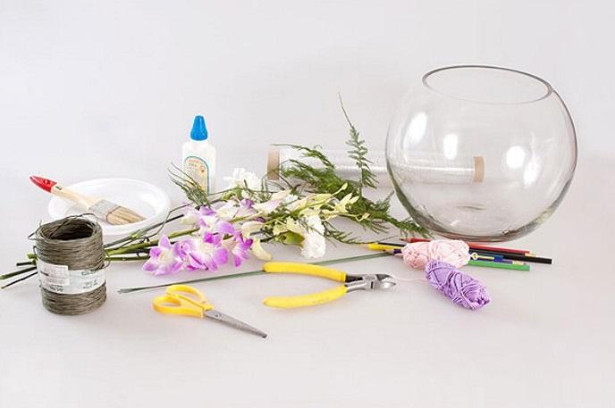 Необходимые материалы и инструменты для изготовления букета
