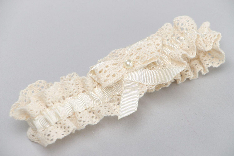 Подвязка невесты крючком 1