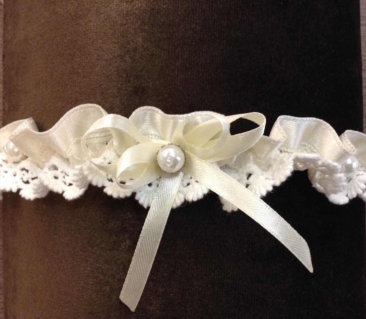Подвязка невесты крючком 5
