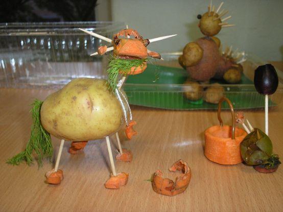 Осенние поделки из овощей