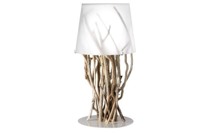 Настольная лампа из веток