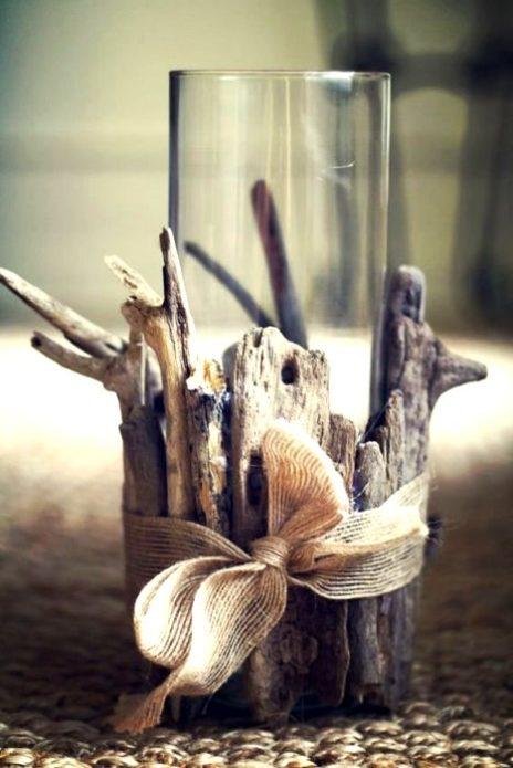 Декор стакана из веток