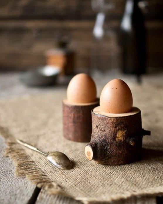 Деревянные подставки для яиц