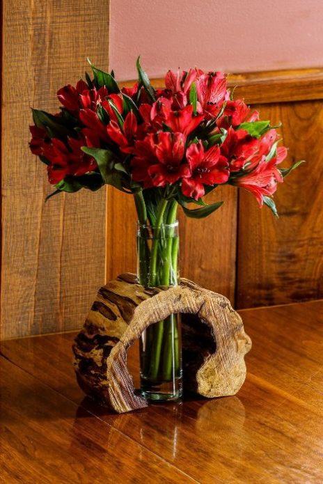 Декор для вазы из спила