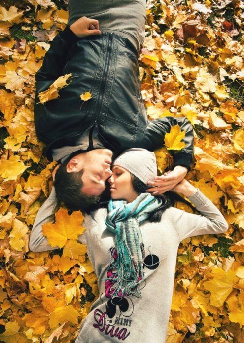 Осенняя фотосессия для пары