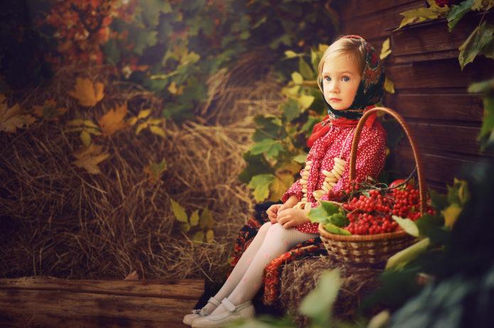 Осенняя фотосессия для ребенка