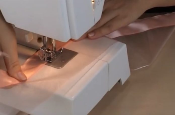 Сшивание лент на машинке