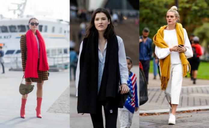 Варианты образов с длинными шарфами
