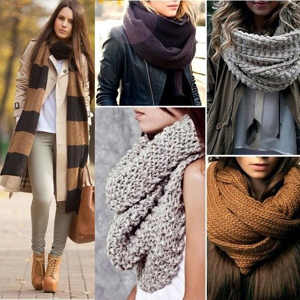 Идеи образов с большими шарфами