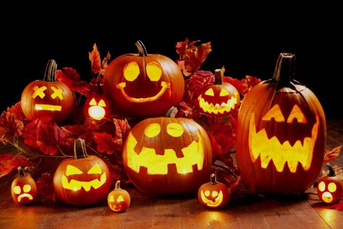 Фонари из тыквы к Хэллоуину