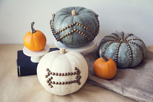 Красивый декор из тыквы на Хэллоуин
