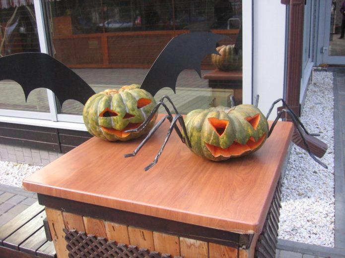 Декор из тыквы на Хэллоуин