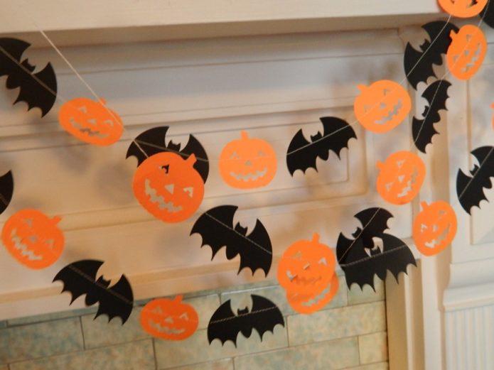 Украшение комнаты на Хэллоуин
