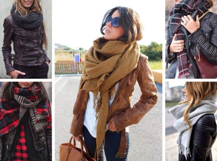 Способы завязать шарф на шее осенью