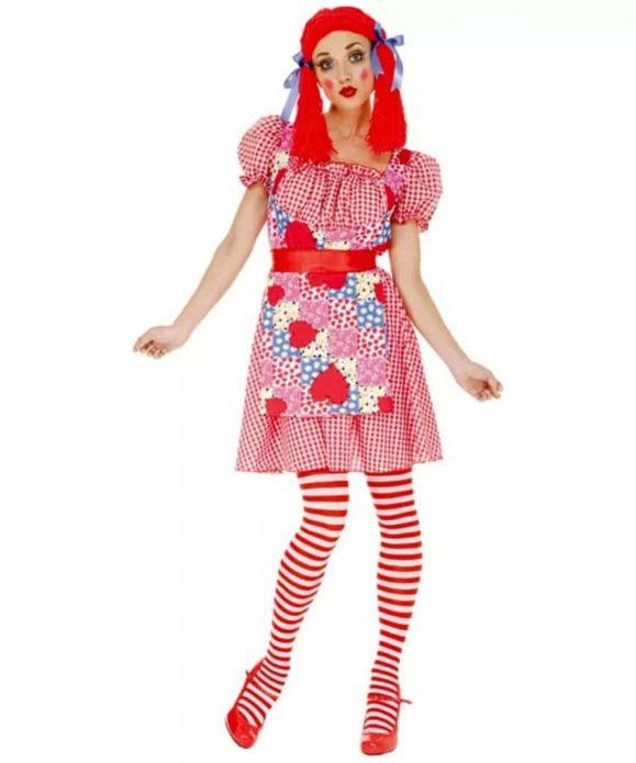 Образ куклы на Хэллоун для девушки