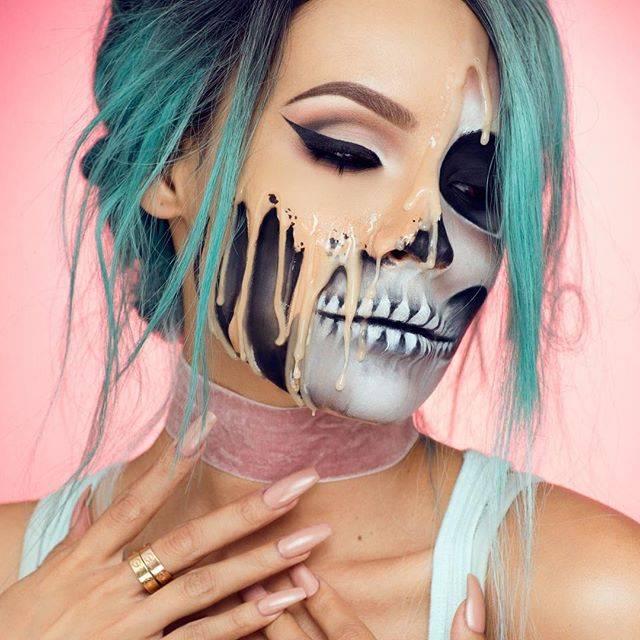 Грим для девушки на Хэллоуин