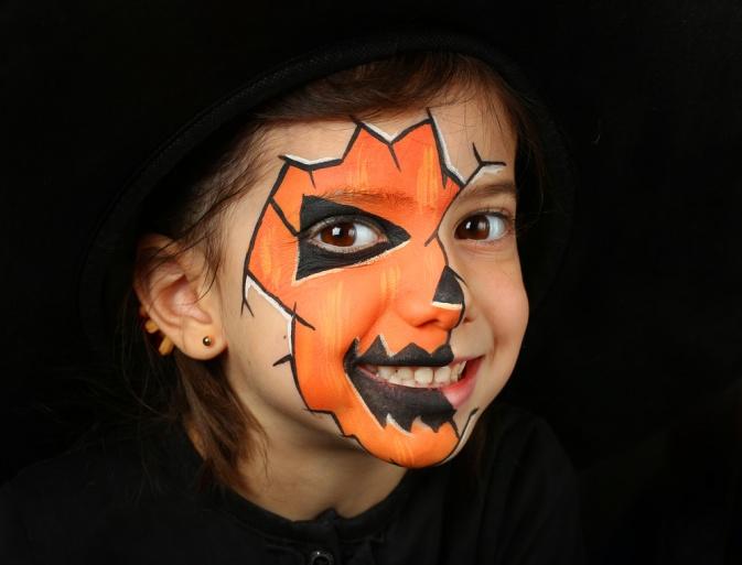 Грим для ребенка на Хэллоуин