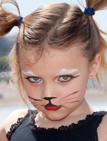 Грим для девочки на Хэллоуин