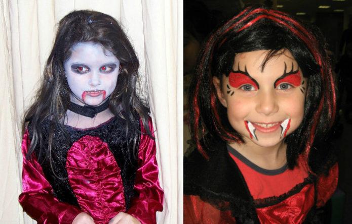 Идеи грима для детей на Хэллоуин