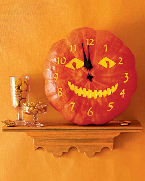 Часы из тыквы